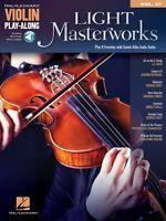 Light Masterworks Sheet Music Violin Play-along Book Audio Online 000124149
