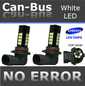 x2 9005 HB3 Samsung LED 42 SMD Super White Headlight High Beam Light Bulbs W479