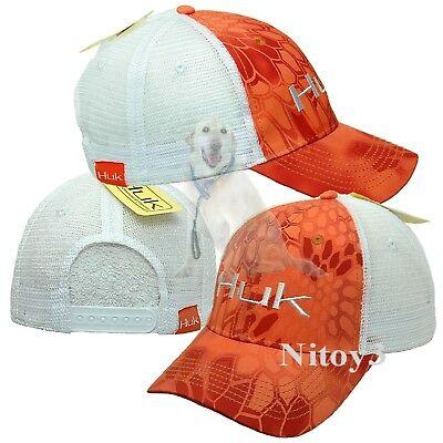139602853 Details about Huk Kryptek Baseball Trucker Hat-Cap With Embroidered Logo  Men One Size Orange