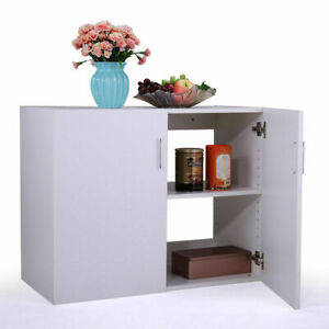 White Kitchen Wall Mount Cabinet Storage Unit Laundry Garage Organizer Shelf