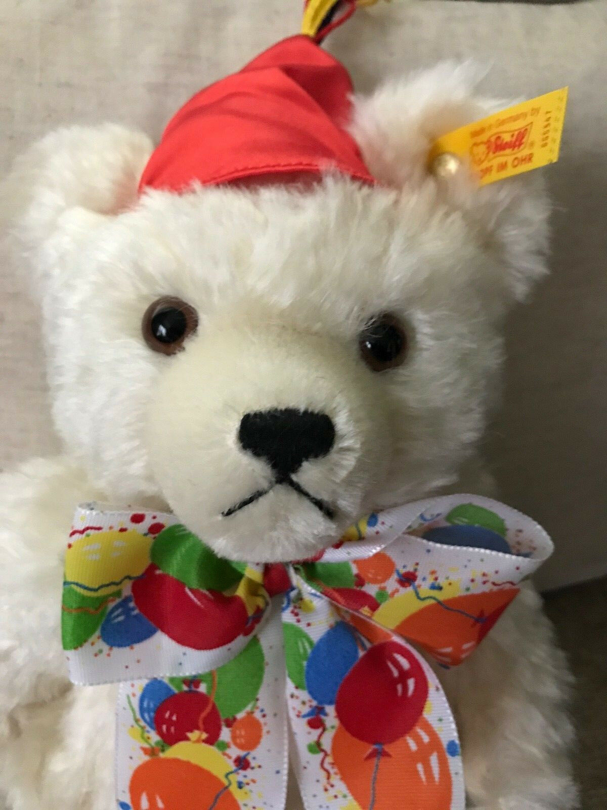 Steiff  665547 Happy Birthday Teddy Bear Musical NWT