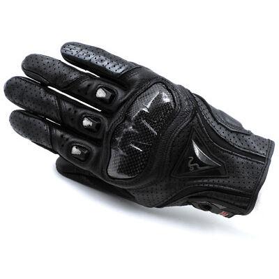 MOGE Carbon Fiber Knuckle Motorcycle Racing Leather Gloves Vented Smart Black