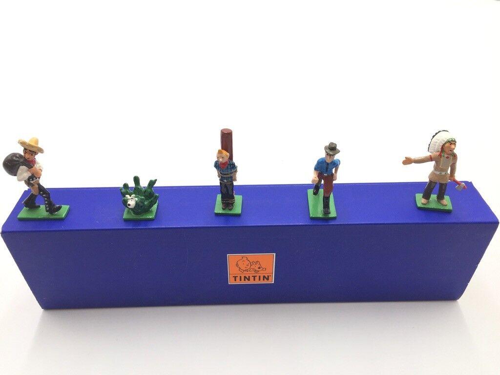 Figurine tintin mini Pixi tintin far west état proche du neuf boite Certificat