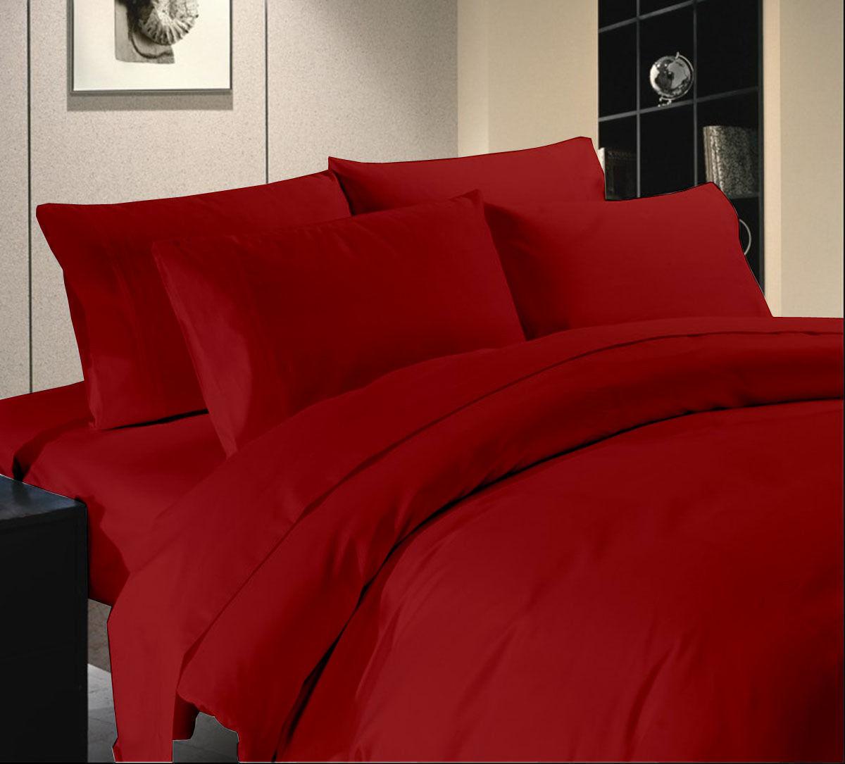1000 TC nouveau Egyptian Cotton rouge Solid AU Queen Taille All Bedding Item