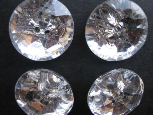 28mm Large Showy Clear Acrylic Rhinestone Sew Through Sewing Buttons Set 4