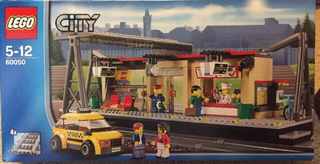 Lego City Train Station 60050 With 5 Minifigs