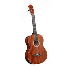 NEW Pyle PGA33LBR Left Handed 6 String Acoustic Guitar Full Scale Acc Kit