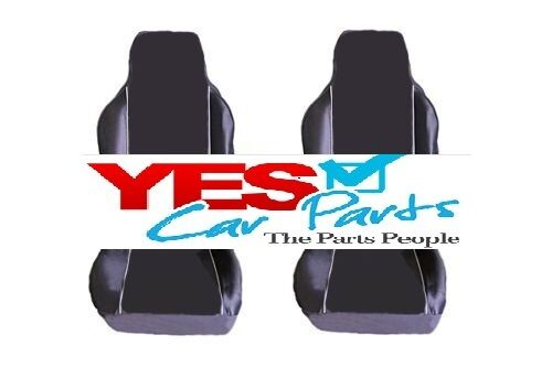 PREMIUM FABRIC SEAT COVERS WHITE PIPING 1+1 PEUGEOT 107 05-ON