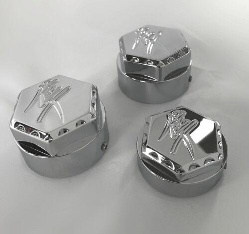 2008-2020 Hayabusa Chrome Engraved 24mm 3D Hex Ball Cut Fork /& Yoke Covers Caps