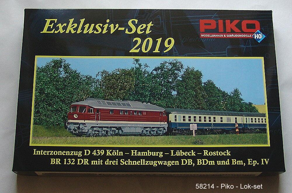 Piko 58214 h0 en exclusiva-set 2019-br 132 interzonenzug, corriente alterna versión  neu