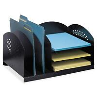 Safco Steel Desk Organizer 16-1/4x11-1/4x8-1/4 Black 3167bl on sale