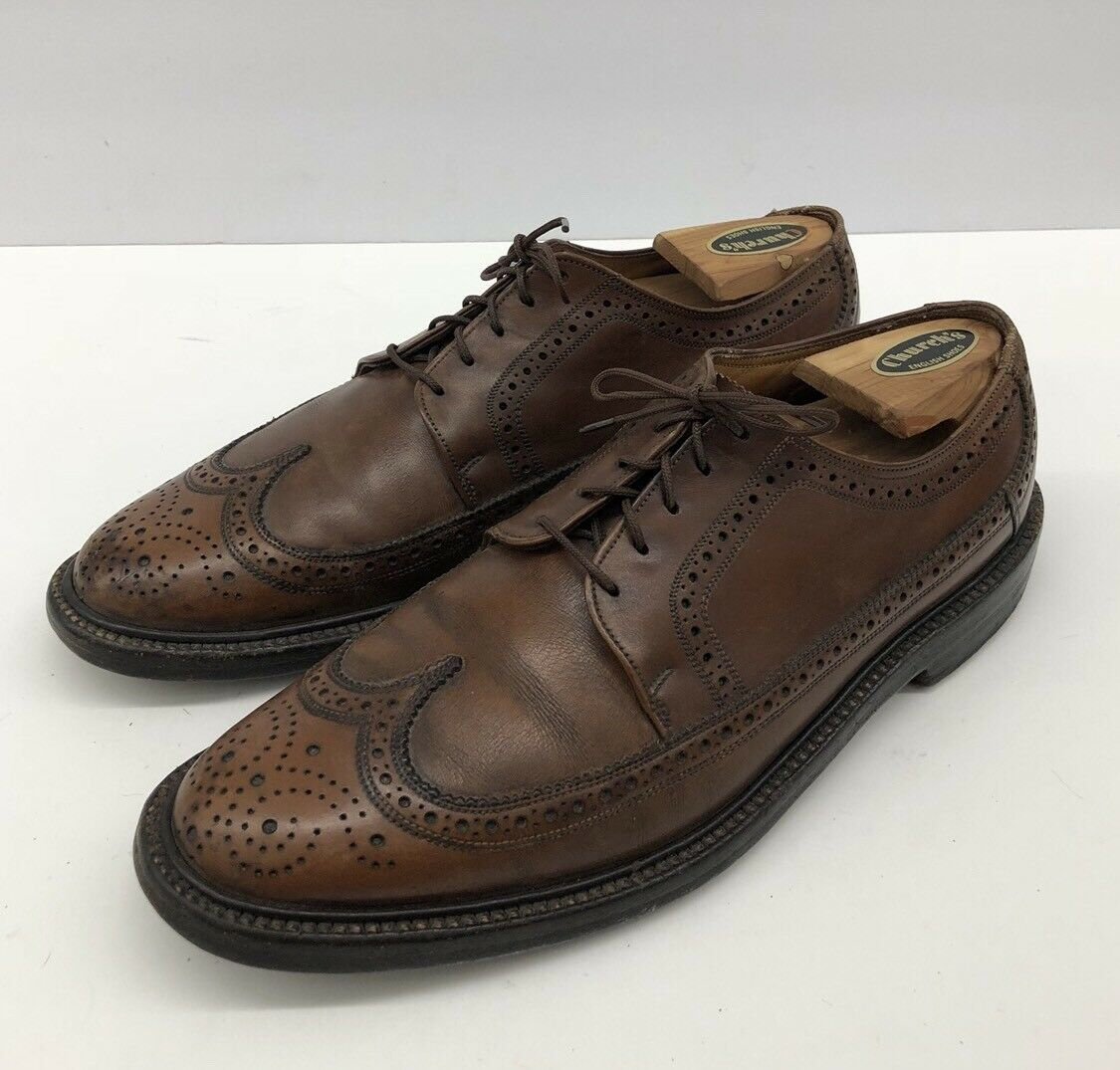 FLORSHEIM VARSITY 30679 WINGTIP LEATHER DRESS SHOES MENS SZ 8 D
