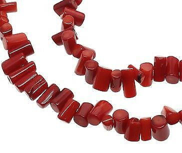 Gemme Rouge Corail Naturel Nature tube cylindre 10 mm rouge corail g171