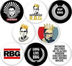 Ruth-Bader-Ginsburg-8-NEW-1-Inch-25mm-Set-of-8-Buttons-Badges-Pin-RIP-RBG