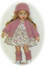"7"" Sweater Hat & leg Warmers Knit PATTERN for Kish Riley, Avery & Tulah Dolls"