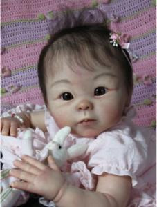 "Reborn Baby Doll Kits Soft Vinyl Head Limbs For 19/"" Dolls Unpainted Mold"