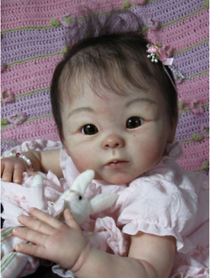 """Hot Reborn Baby Doll Kits Soft Vinyl Head Limbs For 19/"""" Doll Unpainted Mold Gift"""
