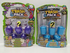 Trash-Pack-Blister-Packs-1x-Series-3-amp-1x-Series-6-Damaged-Packaging