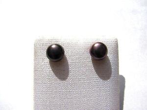 Mabe-Perle-schwarz-Ohrstecker-7-5-mm-925-Silber-Pearl-Earrings-Nr-E7403