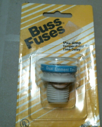 Buss Time Delay Tamper Proof Plug Fuse BP//S-1 6//10 S