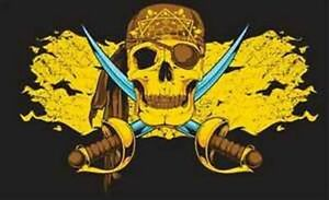 Fahne-Flagge-Pirat-gold-Messer-Tuch-Bones-90x150-cm-Hissfahne-Hissfahne-Saebel