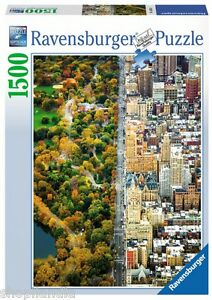 Ravensburger-16254-Citta-Divisa-New-York-Puzzle-1500-Pezzi-New-York-Jigsaw