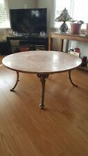CB Smart Round Marble Top Coffee Table EBay - Smart round marble top coffee table
