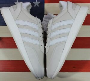 Adidas-Originals-I-5923-Leather-BOOST-Men-039-s-Running-Shoes-Raw-White-BD7799