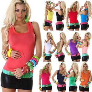 PORTADOR-DE-SEXY-camiseta-sin-mangas-Blusa-Top-Largo-Verano-Multicolor