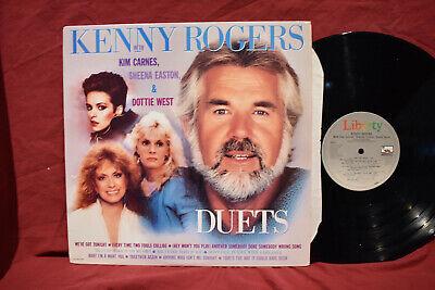 Kenny Rogers 'DUETS' LP Kim Carnes/Sheena Easton & Dottie ...