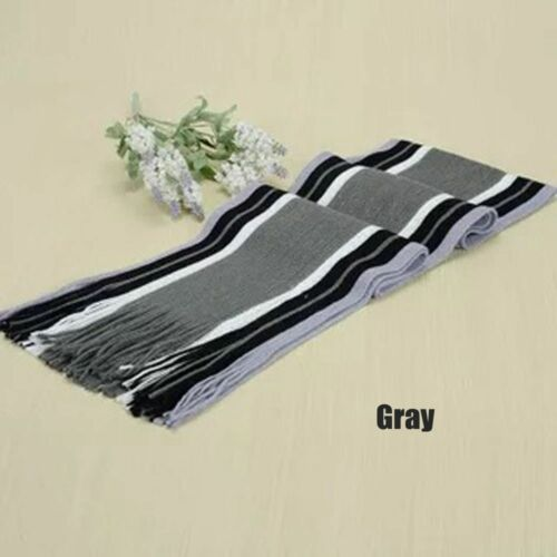 Winter Unisex Classic Cashmere Shawl Fringe Stripe Tassel Warm Long Soft Scarf