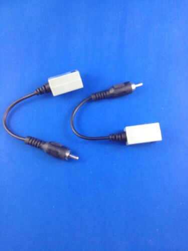 2 Pcs RCA Male to CAT5 wire cable  Video Balun camera 2