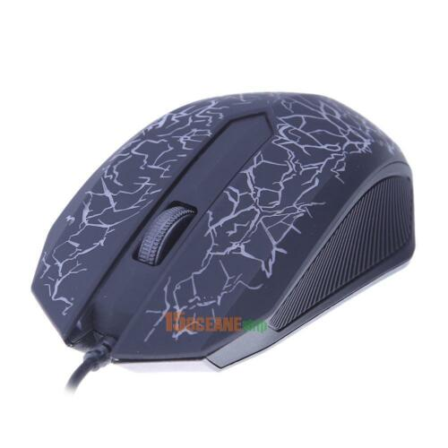 USB Wired 3 Button 2400DPI Optical Mice Gaming Mouse with Colorful LED Backlight