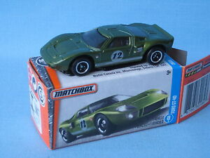 Image Is Loading Matchbox Ford Gt Green Body Racing Gt Toy