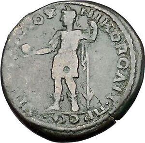 CARACALLA with GLOBE 198AD Nicopolis ad Istrum Ancient Roman Coin i50888