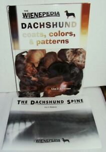 2 Books Dachshund Coats Colors Patterns Plus Dachshund Spine By