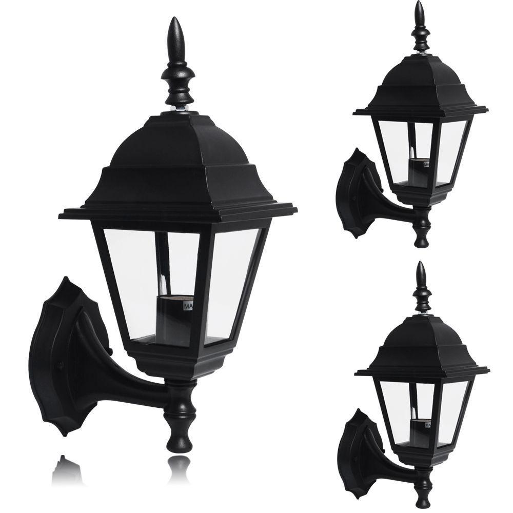 1 2 3 6x 4 Side LED Security Lantern Lamp Landscape Outdoor Wall Light Garden