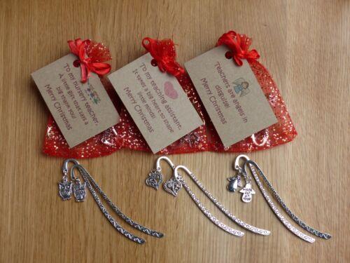 Christmas bookmark and card. Nursery teacher Teaching assistant Teacher gift