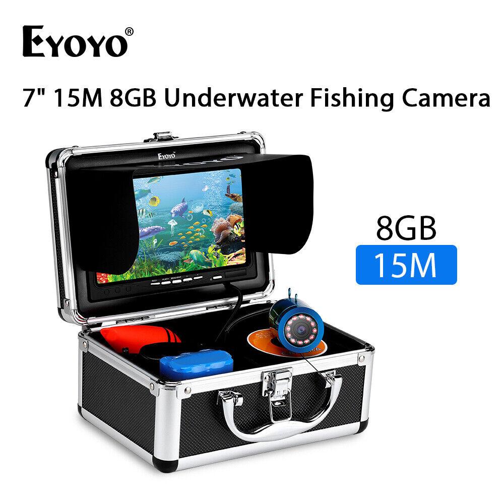 Eyoyo 7 15M Fototelecamera Subacquea Pesca Fish Finder  8GB DVR 1000TVL IMPERMEABILE