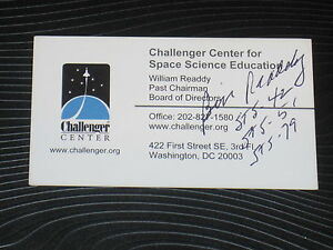 Nasa astronaut william bill readdy signed business card autograph ebay image is loading nasa astronaut william bill readdy signed business card colourmoves
