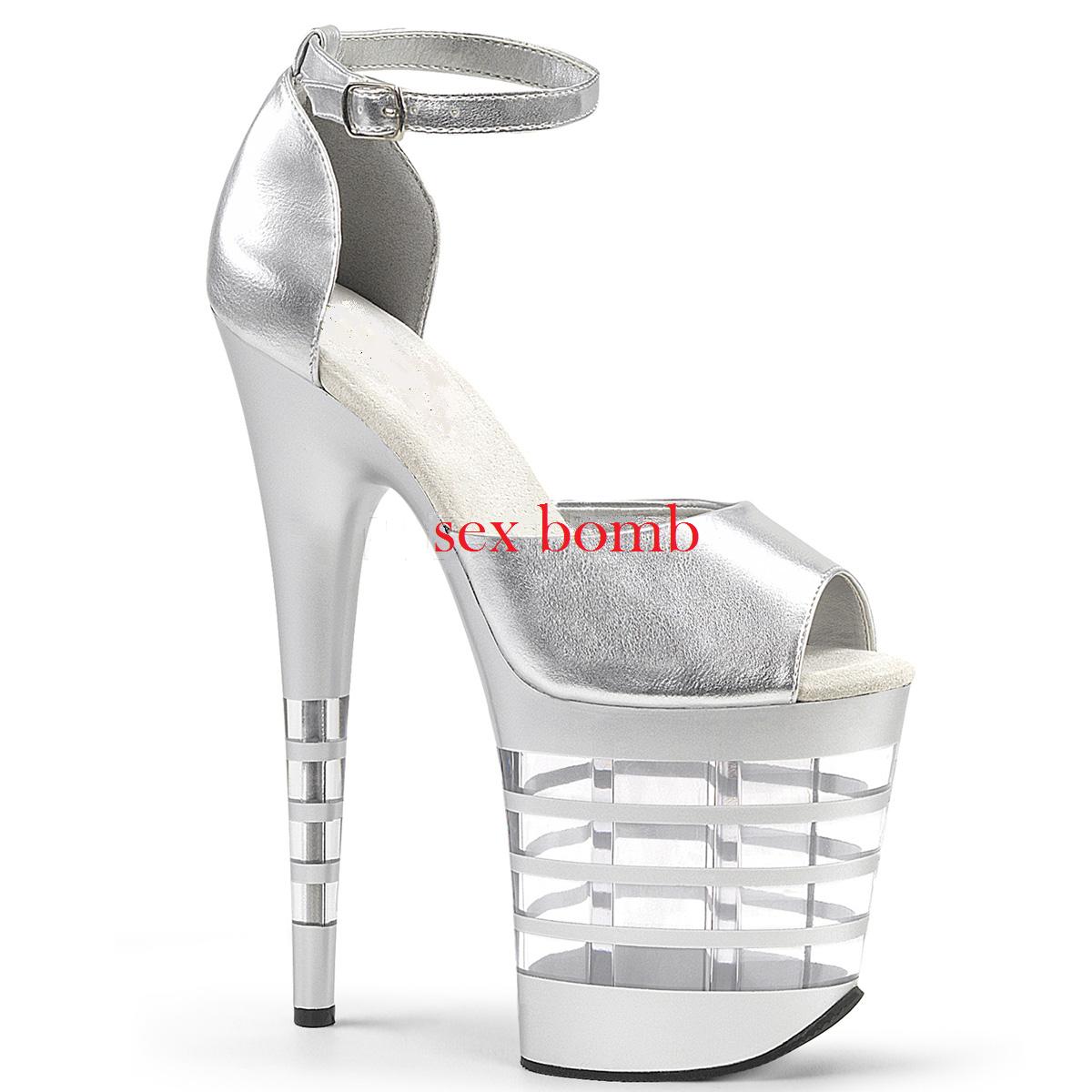 Sexy SANDALI tacco 20 dal 35 al 40 40 40 plata plateau cinturino zapatos GLAMOUR Club  Sin impuestos