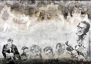 1:18 Maßstab 50`S Singers Garage Wand 3xA4 Lösen Und Auftragen Sticker 102