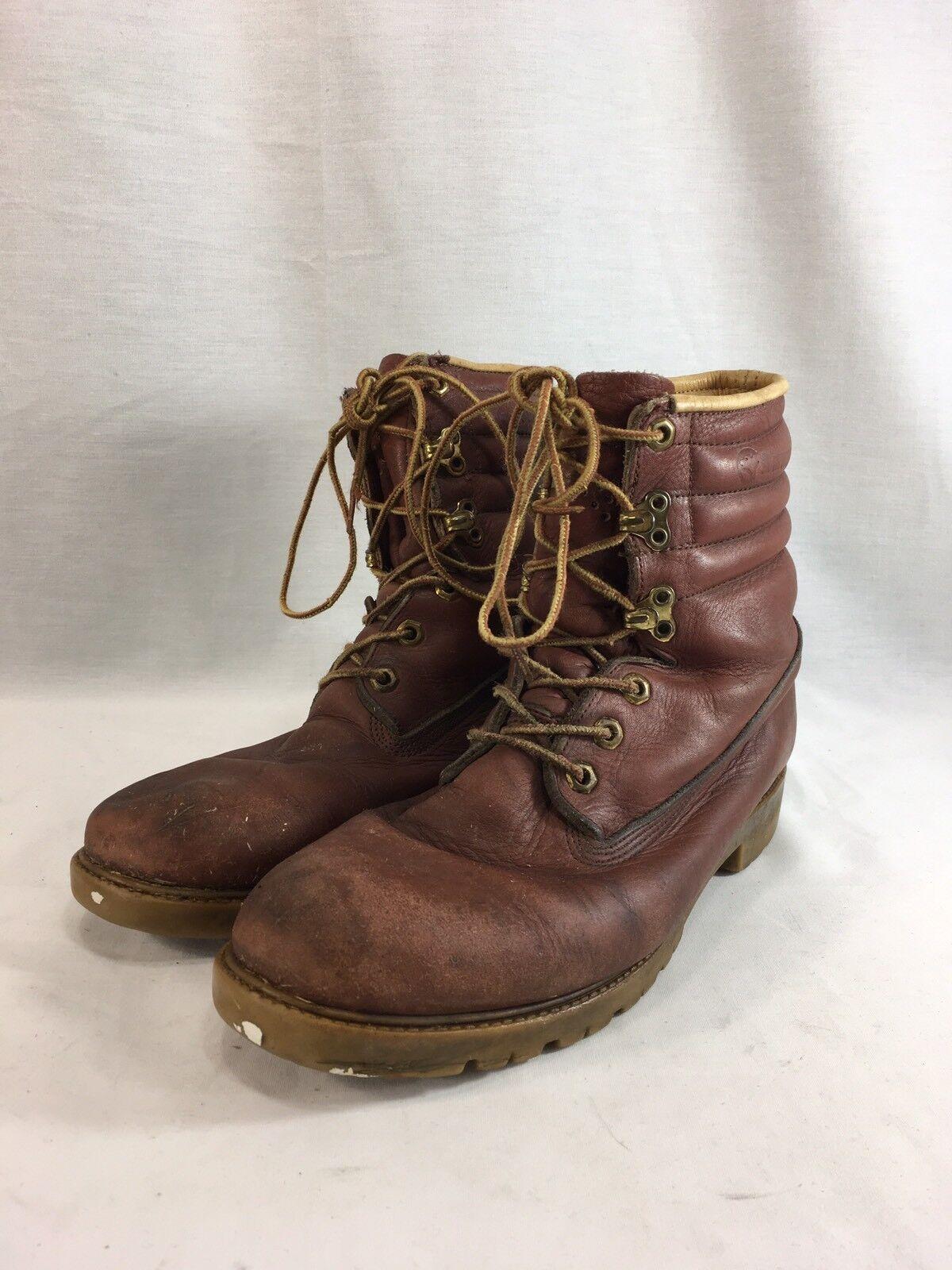 VTG Herman Survivors Work Boots shoes Mens 9 M Brown Leather