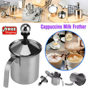 Handheld Milk Foamer Cappuccino Frother Steeless Coffee Latte Expressi AU