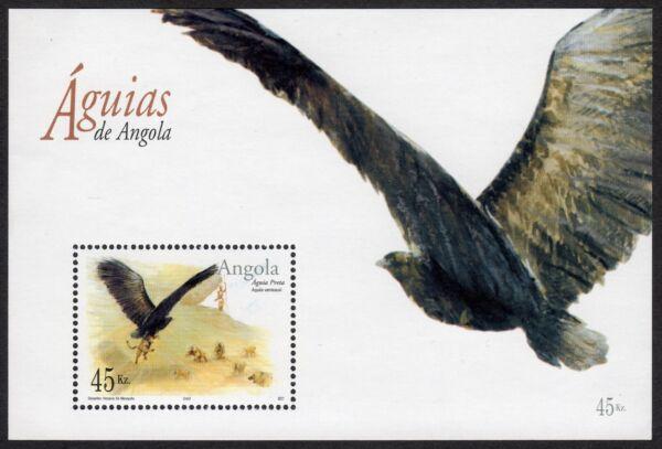Angola: Eagles (2003) Non Montés (neuf Sans Charnière) Comme Neuf Miniature Feuille (oiseaux)