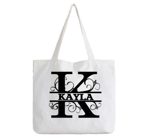 Kayla Ladies Personalised White Tote Bag Shopping Change Name Gift Birthday Girl