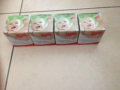 Ernährung Nuk Trinksauger Und Verschlusskappe Für Muttermilchbehälter Babyflaschen & Zubehör 4 Stück 0-6 Monate Einfach Zu Schmieren