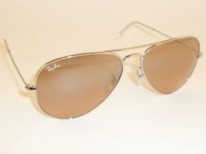 New Ray Ban Aviator Sunglasses Silver Frame Rb 3025 003 3e Pink