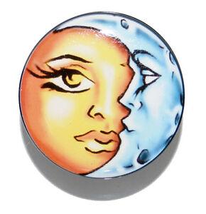 Image Is Loading LADY SUN Amp MOON FACE PLUG TATTOO STYLE
