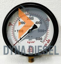150mm Dial High Pressure Gauge Dual Scale 420 Kg 6000 Psi 38 Bsp Connection